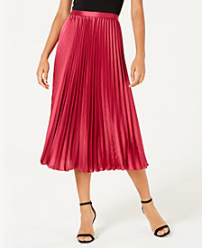 Lucy Paris Talia Pleated A-Line Skirt
