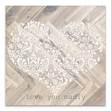 Love You Madly Wood, MDF Box