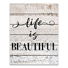 Life Is Beautiful Wood Pallet