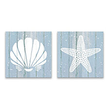 Coastal Shells Printed Canvas