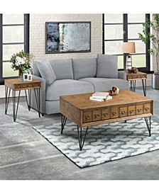 Tanner 3 Piece Occasional Table Set-Coffee Table and Two End Tables