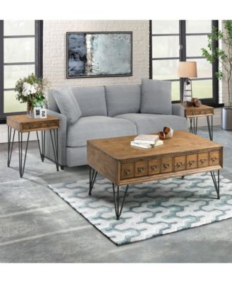 Tanner 3 Piece Occasional Table Set Coffee Table And Two End Tables