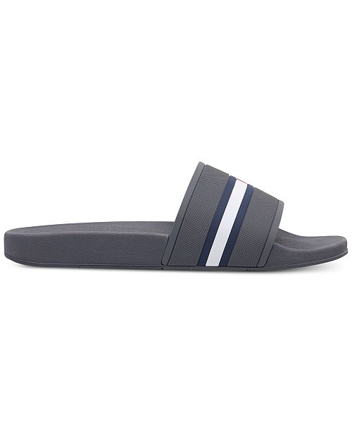 5125c7ae9 Tommy Hilfiger Men s Ennis Slide Sandals   Reviews - All Men s Shoes ...