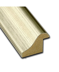 Amanti Art Warm Silver Swoop 38x26 Framed White Cork Board