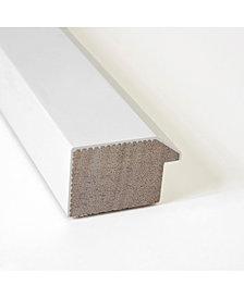 Amanti Art Blanco White 40x28 Framed White Cork Board