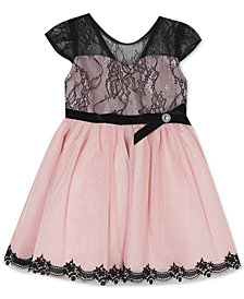 Rare Editions Baby Girls Lace Illusion Dress