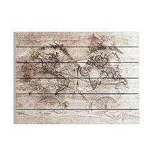 Graham & Brown Wood World Map Print on Wood