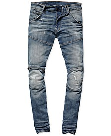 Mens Zip-Knee Skinny Fit Moto Jeans, Created for Macy's