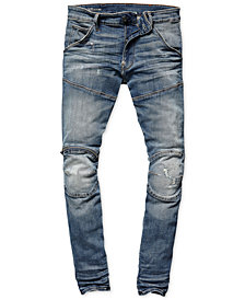 G-Star Raw Mens Zip-Knee Skinny Fit Moto Jeans, Created for Macy's