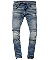 G-Star Raw Mens Zip-Knee Skinny Fit Moto Jeans, Created for Macy s 517961d3d2
