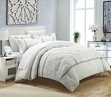 Veronica 7 Pc Queen Duvet Set