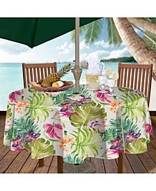 """Kona Tropics Indoor/Outdoor 70"""" Round Umbrella Zip Tablecloth"""