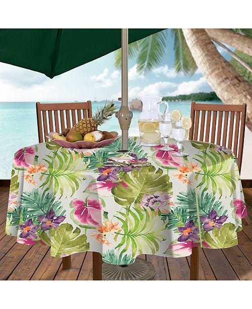 Elrene Kona Tropics Indoor Outdoor Tablecloth Collection