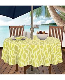 """Elrene Sydney Indoor/Outdoor 70"""" Round Umbrella Zip Tablecloth"""