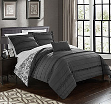 Chic Home Eliza 8 Pc Duvet Set Collection
