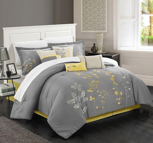 Chic Home Bliss Garden 12 Pc Queen Comforter Set