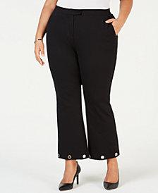MICHAEL Michael Kors Plus Size Grommet-Hem Pants