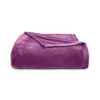 Deals on Berkshire Classic Velvety Plush Eggplant Twin Blanket