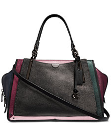 COACH Metallic Colorblock Dreamer 36 Satchel in Pebble Leather