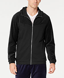 ID Ideology Men's Velour Chevron Zip Hoodie, Created for Macy's