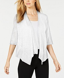 Linen Open-Front Cardigan, Created for Macy's