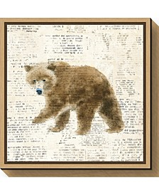Into the Woods VI no Border Bear by Emily Adams Canvas Framed Art