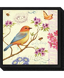 Birds and Bees II by Daphne Brissonnet Canvas Framed Art