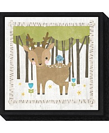 Amanti Art Woodland Hideaway Deer by Moira Hershey Canvas Framed Art