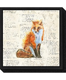 Into the Woods IV no Border Fox by Emily Adams Canvas Framed Art