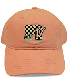 Concept One MTV Checkered Logo Cotton Dad Cap