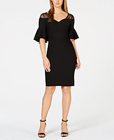 Calvin Klein Illusion Ruched Dress