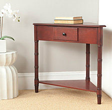 Gomez Corner Table With Storage Drawer