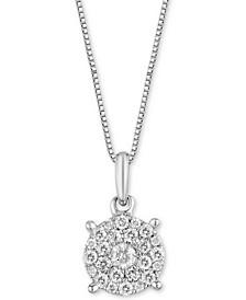 Diamond Pendant Necklace (1/4 ct. t.w.) in 14k White Gold