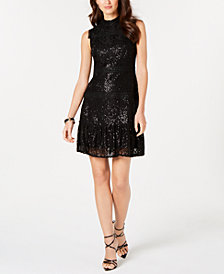 julia jordan Sequined Lace Dress