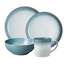 Denby Azure Haze 16-PC Coupe Dinnerware Set