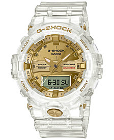 G-Shock Men's Analog-Digital Clear Resin Strap Watch 48.6mm