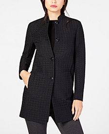 Anne Klein Textured Cinched-Waist Jacket