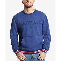 Deals on Nautica Mens Logo Pocket Sweatshirt