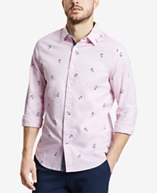 Nautica Men's Mini Anchor-Print Shirt