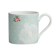 Royal Albert Polka Blue Rose Modern Mug