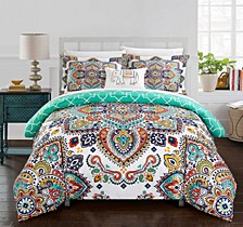 Karen 4 Pc Queen Duvet Cover Set