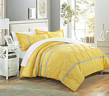 Chic Home Veronica 3 Pc Queen Duvet Cover Set