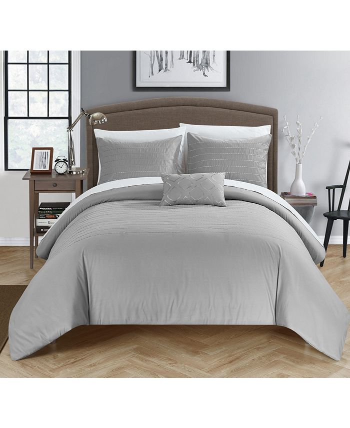 Chic Home - Bea 4-Pc. Queen Duvet Cover Set