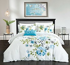 Enchanted Garden 4 Pc Queen Duvet Cover Set