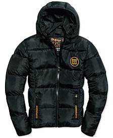 Superdry Mens Gold Puffer Coat