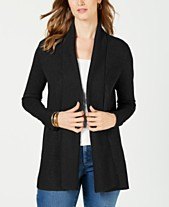 0c264f7acb Charter Club Shawl-Collar Open Cardigan