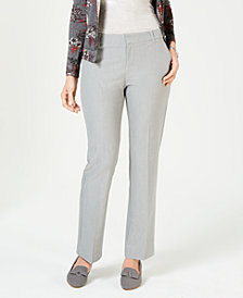 Charter Club Petite Chambray Trouser Pants, Created for Macy's