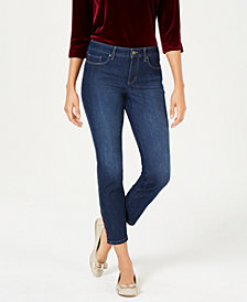 Charter Club Lace-Up-Hem Capri Jeans, Created for Macy's