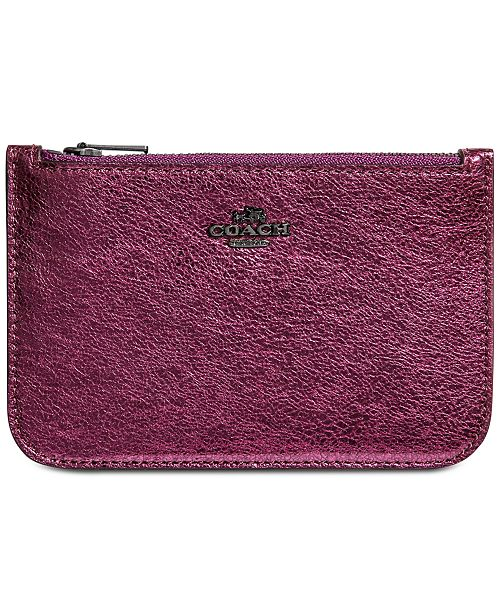 32002a9e COACH Zip Card Case in Crossgrain Leather & Reviews - Handbags ...