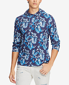 Polo Ralph Lauren Men's Floral-Print Hooded Long-Sleeve Cotton T-Shirt